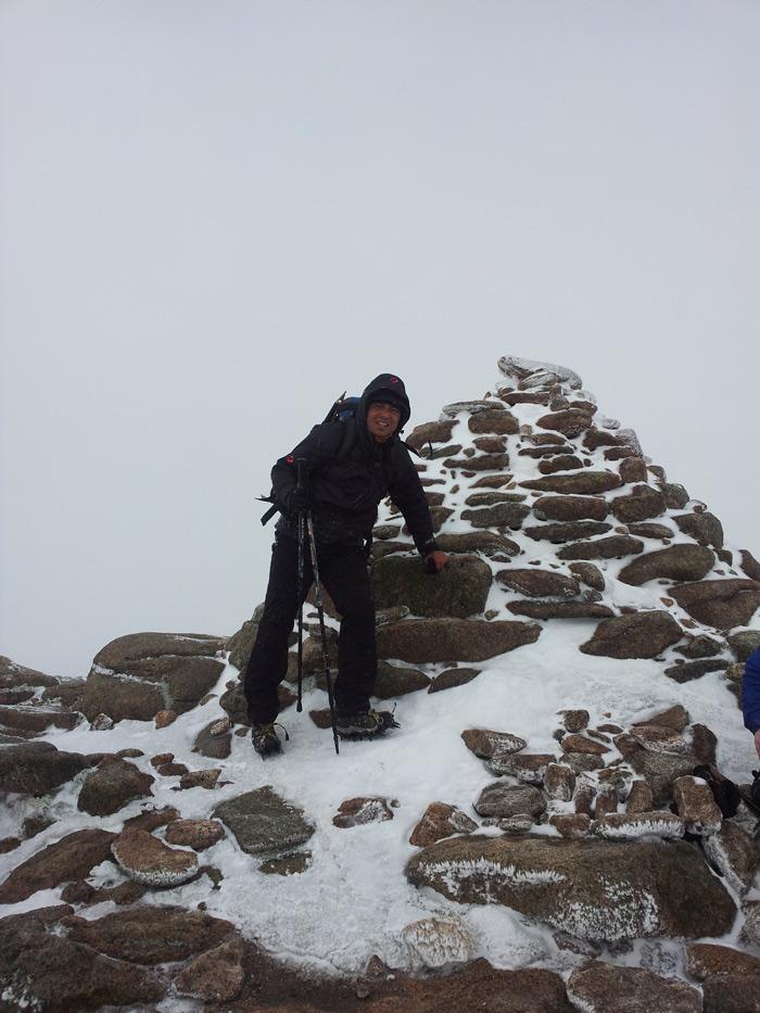 Abhi Rai from TrekCo on Cairn Gorm today